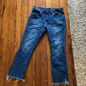 Levi's Kickflare cropped jeans